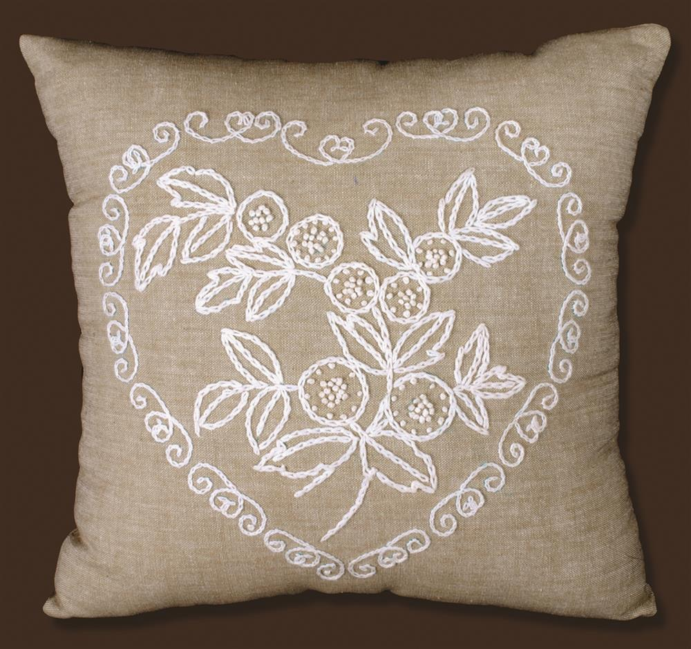 Heart Candlewick Pillow -  Embroidery Kit