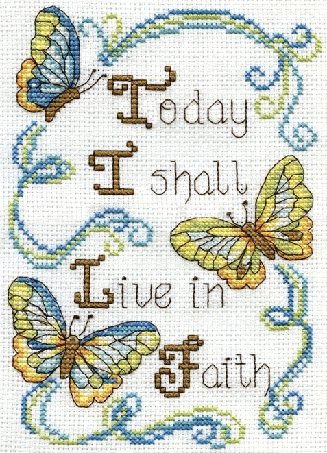Design Works Crafts Live in Faith Cross Stitch Kit
