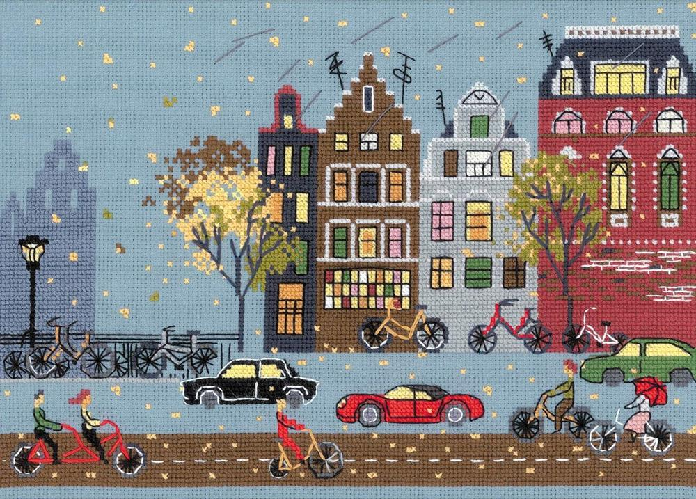 RIOLIS Cycle Lane Cross Stitch Kit