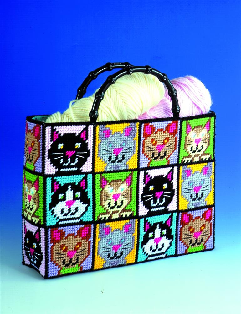 Cat Plastic Canvas Tote -  Tapestry Kit