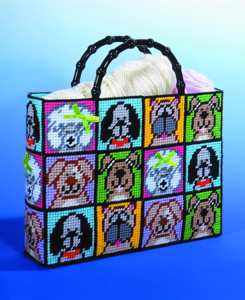 Dog Plastic Canvas Tote -  Tapestry Kit