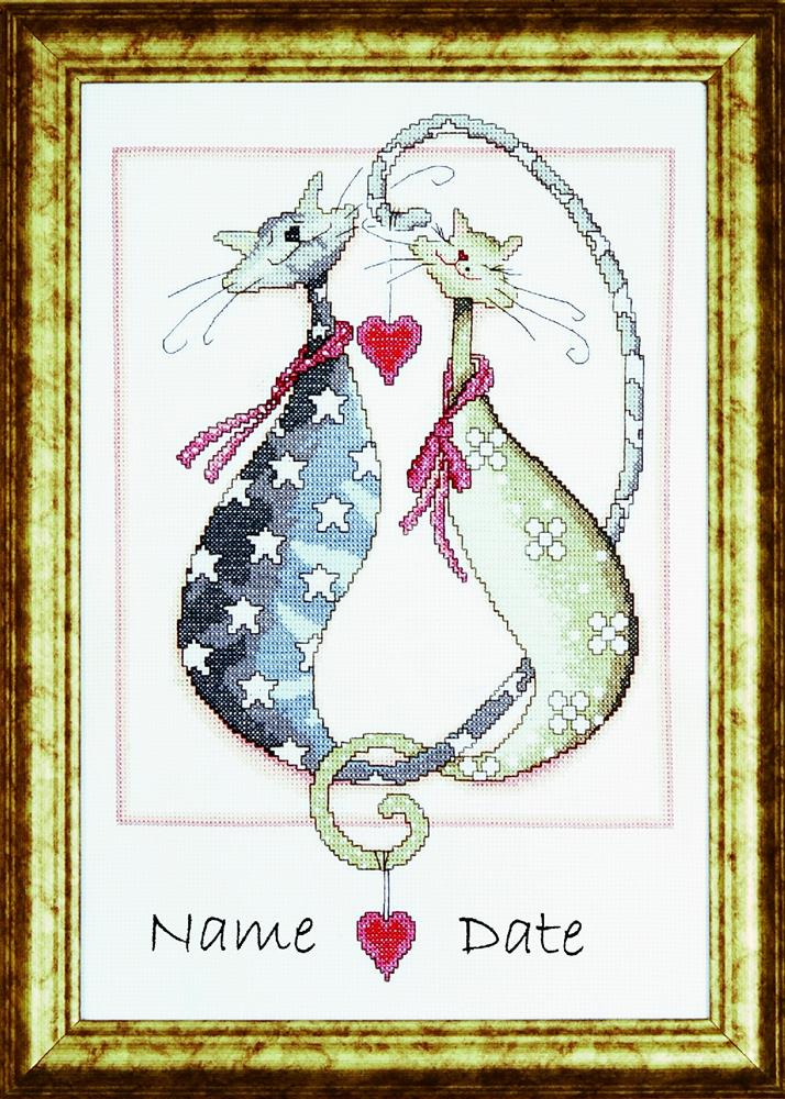 Purrfect Together -  Cross Stitch Kit