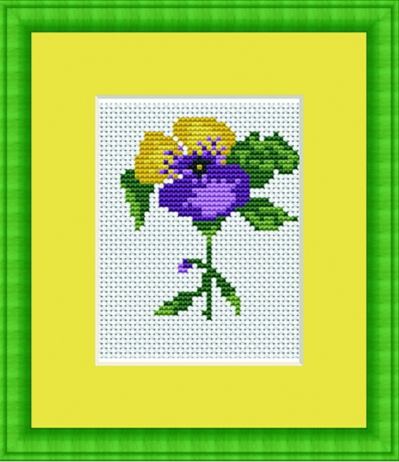 Luca-S Violet Mini Kit Cross Stitch Kit