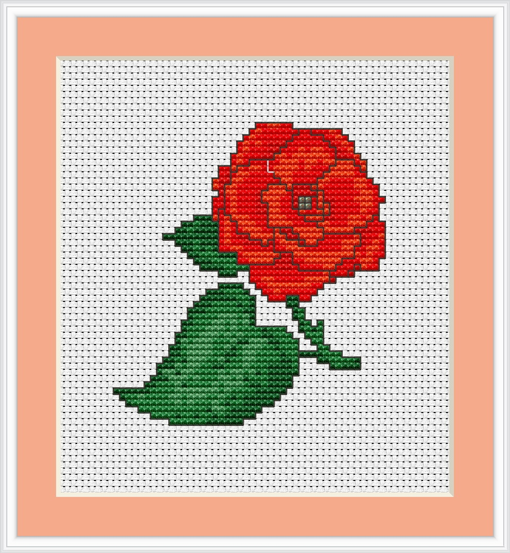 Rose Mini Kit -  Cross Stitch Kit