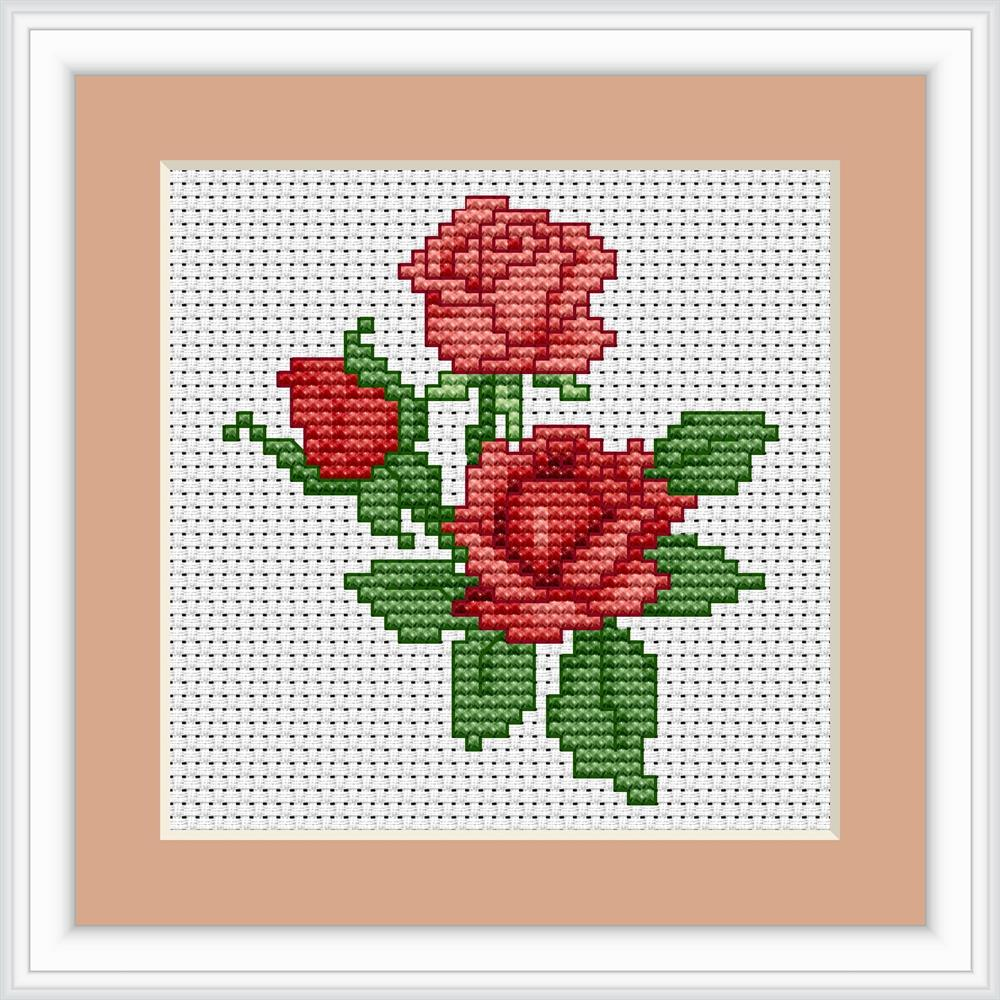 Roses Mini Kit -  Cross Stitch Kit