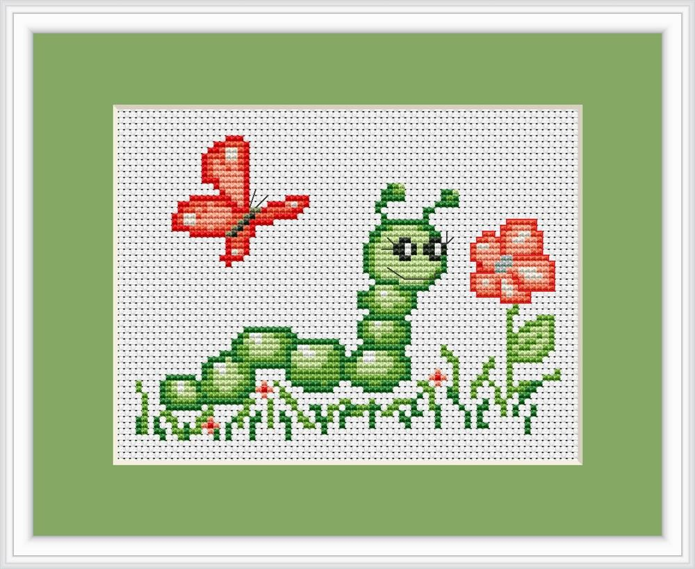 Luca-S Caterpillar Mini Kit Cross Stitch