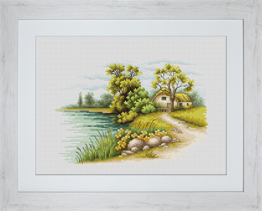 Landscape with a Lake -  Cross Stitch Kit