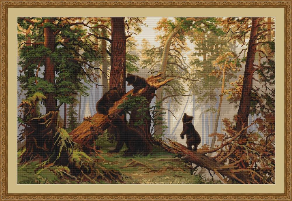 Luca-S Morning in the Pine Forest Cross Stitch Kit