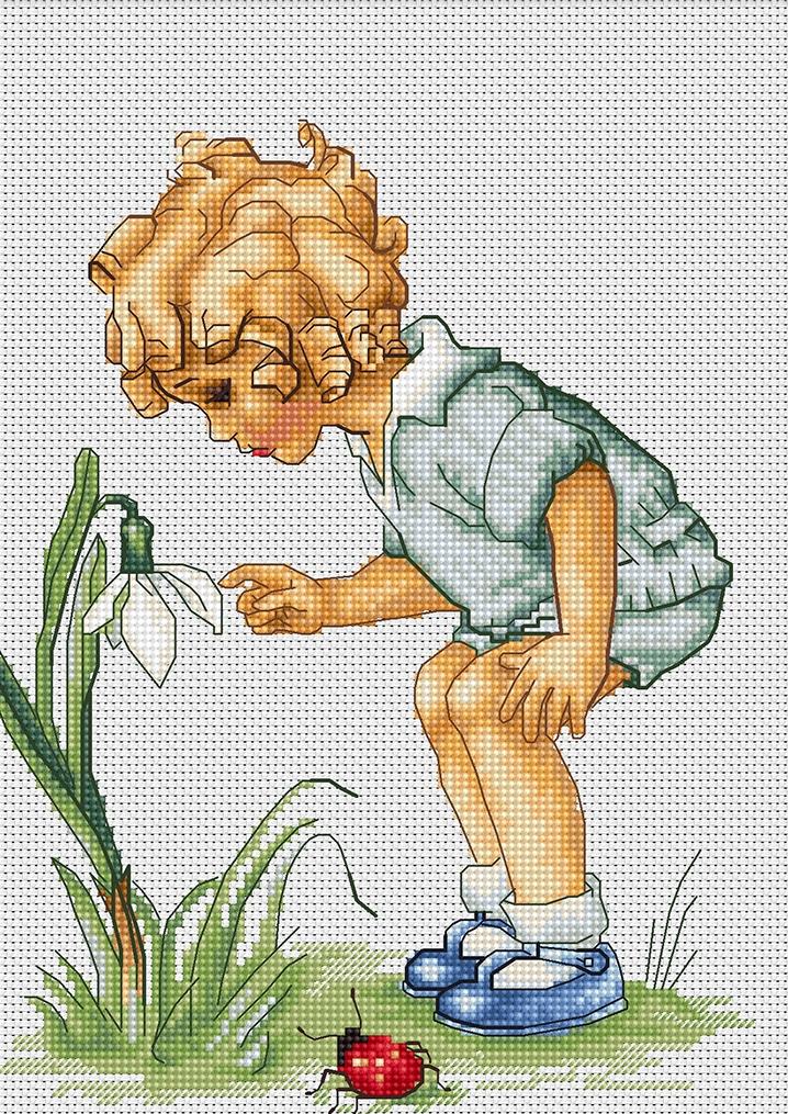 Luca-S Snowdrop Cross Stitch Kit
