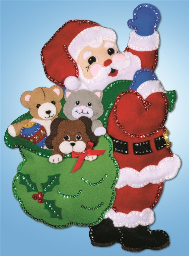 Design Works Crafts Santa Toys Wall Hanging Craft Kit