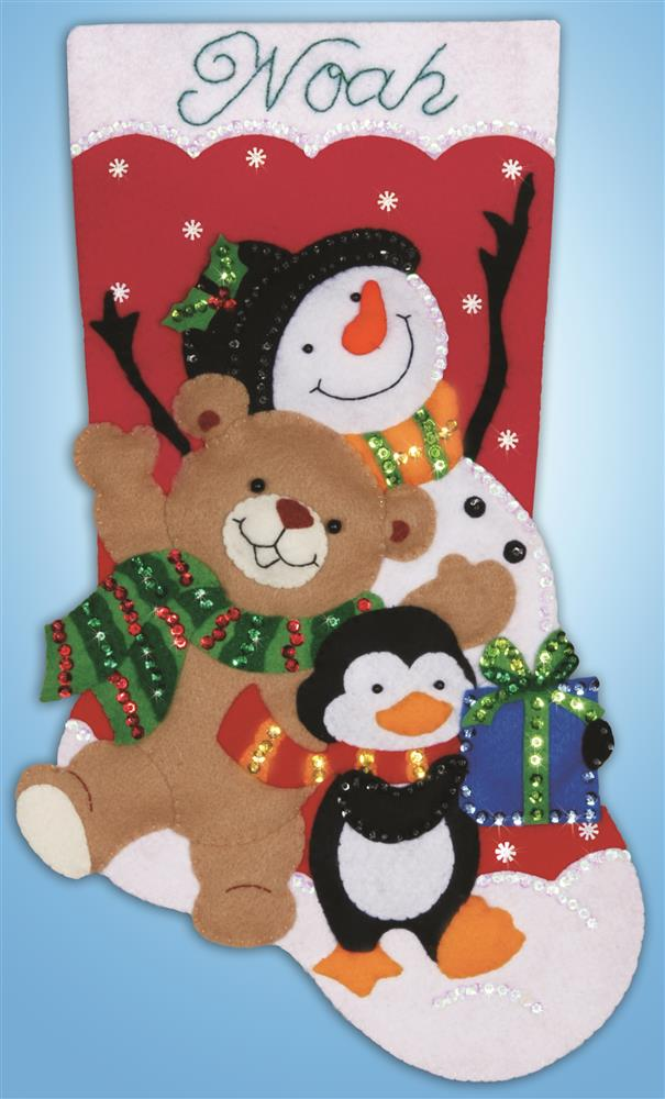Design Works Crafts Holiday Friends Stocking Craft Kit