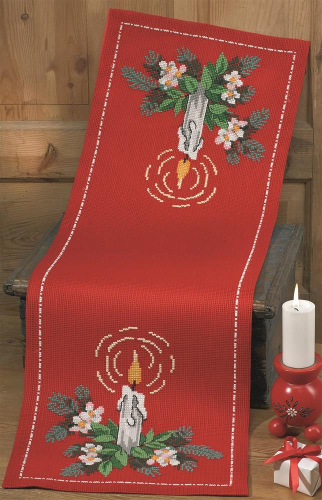 Candlelight Runner -  Christmas Cross Stitch Kit