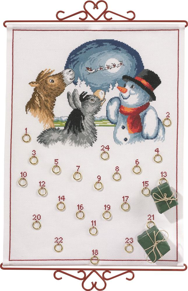 Eva Rosenstand Snowman and Animals Advent Christmas Cross Stitch Kit