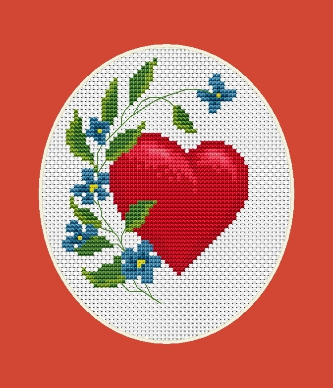 Luca-S Valentine Cross Stitch Kit