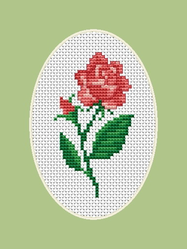 Luca-S Rose Cross Stitch Kit