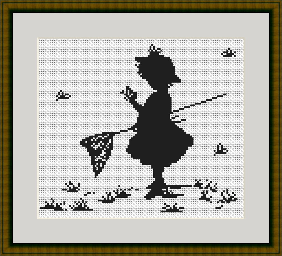 Girl with Butterflies -  Cross Stitch Kit