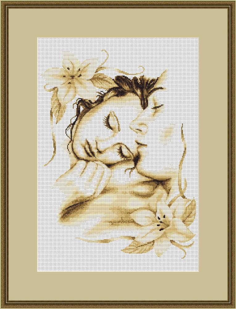 Luca-S Couple in Love Cross Stitch Kit
