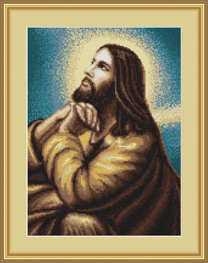 Jesus at Prayer -  Cross Stitch Kit