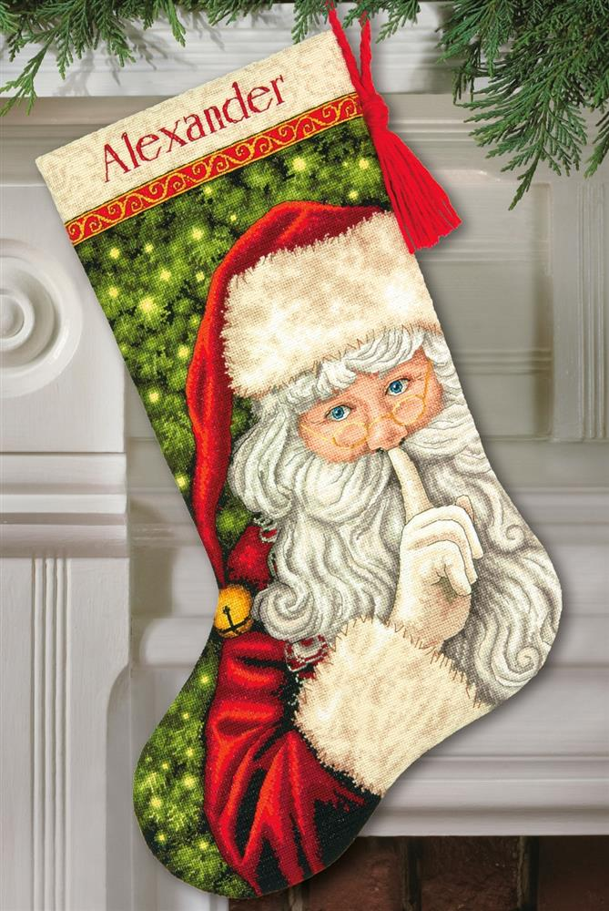 Secret Santa Stocking -  Christmas Cross Stitch Kit