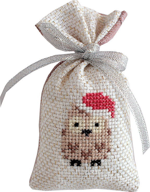 Owl Bag -  Christmas Cross Stitch Kit