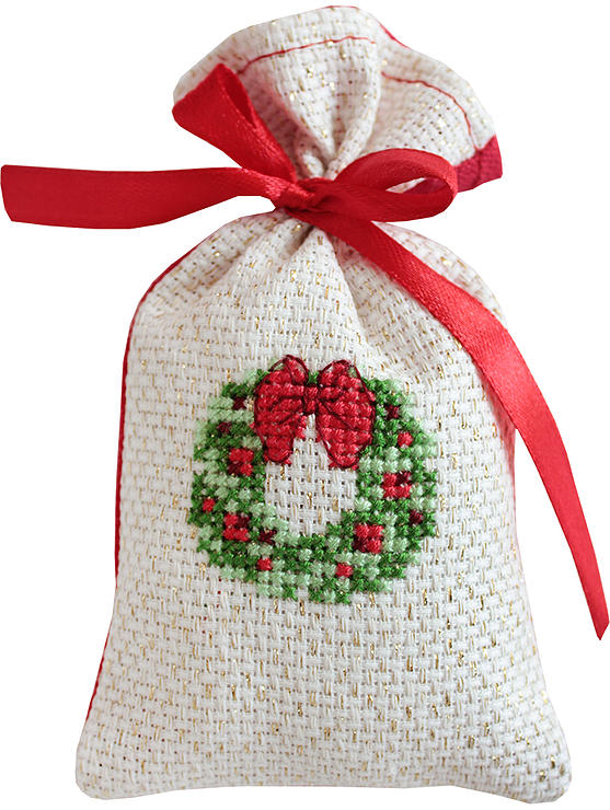 Luca-S Wreath Bag Cross Stitch Kit