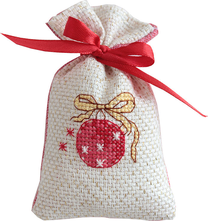 Bauble Bag -  Christmas Cross Stitch Kit