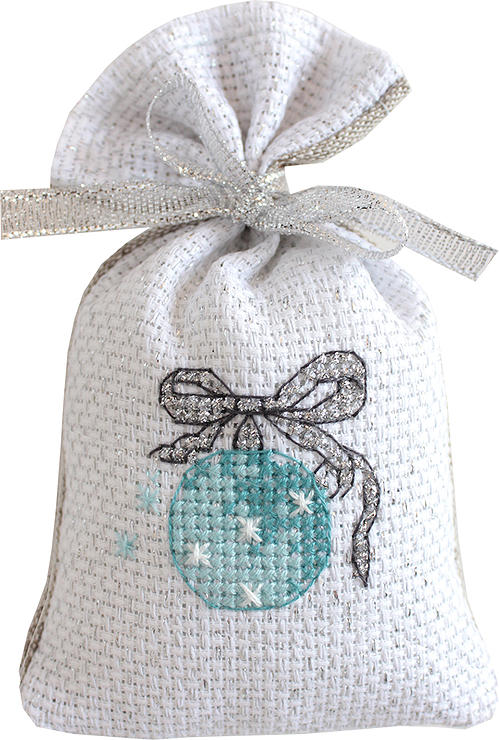 Icy Bauble Bag -  Christmas Cross Stitch Kit