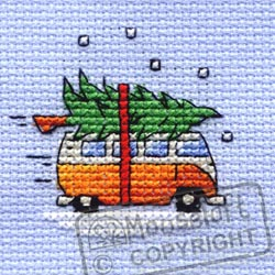 Collecting the Tree -  Christmas Cross Stitch Kit