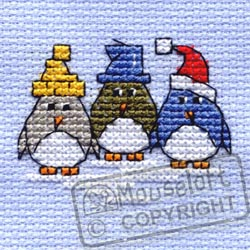 Mouseloft Three Little Penguins Christmas Cross Stitch Kit