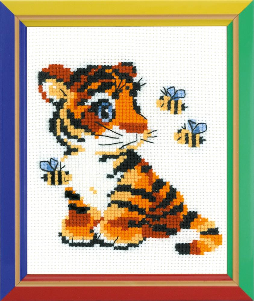 RIOLIS Happy Bee Stripies Cross Stitch Kit
