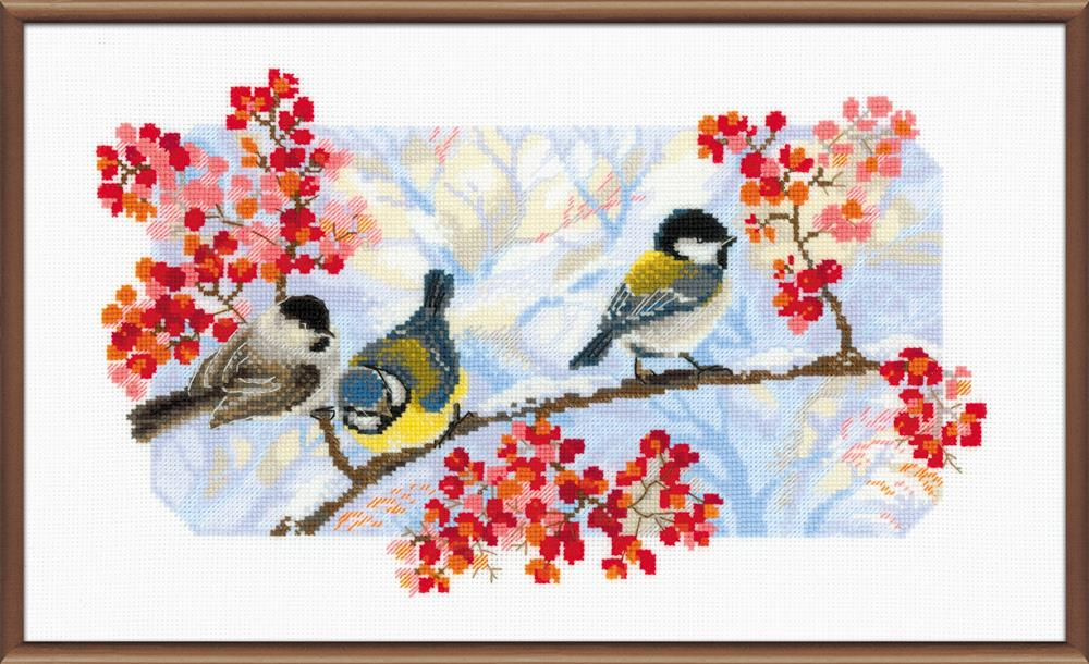 Winter Day Birds -  Cross Stitch Kit