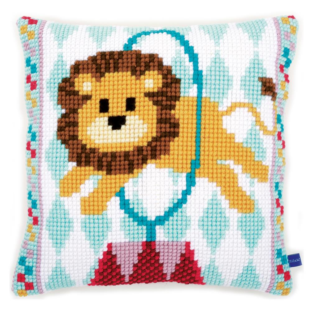 Vervaco Circus Lion Cushion Cross Stitch Kit