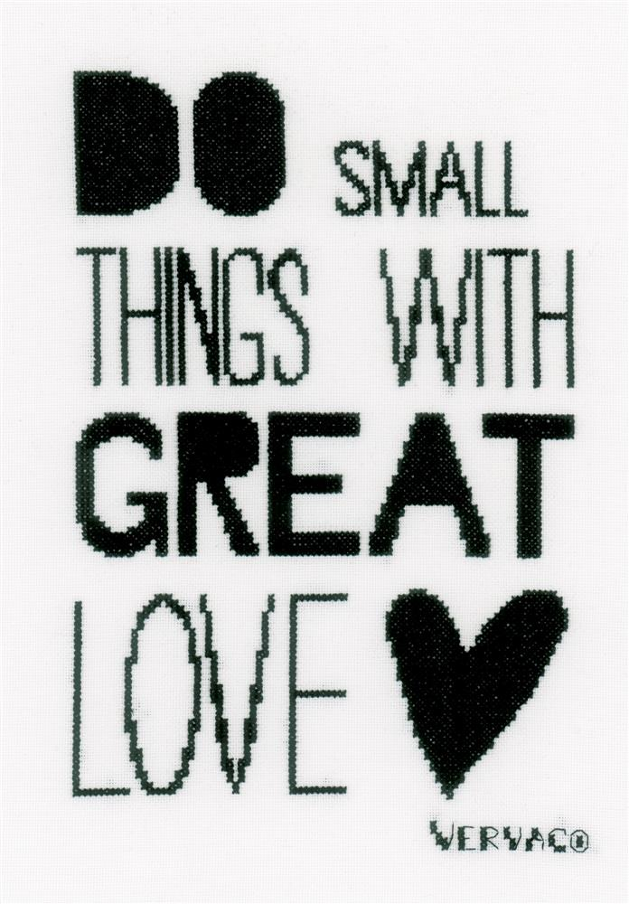 Vervaco Do Small Things Cross Stitch Kit