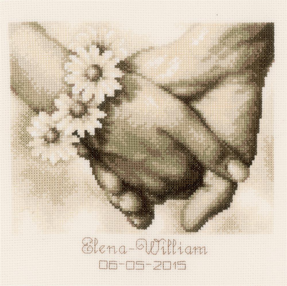 Just Married Wedding Record -  Cross Stitch Kit
