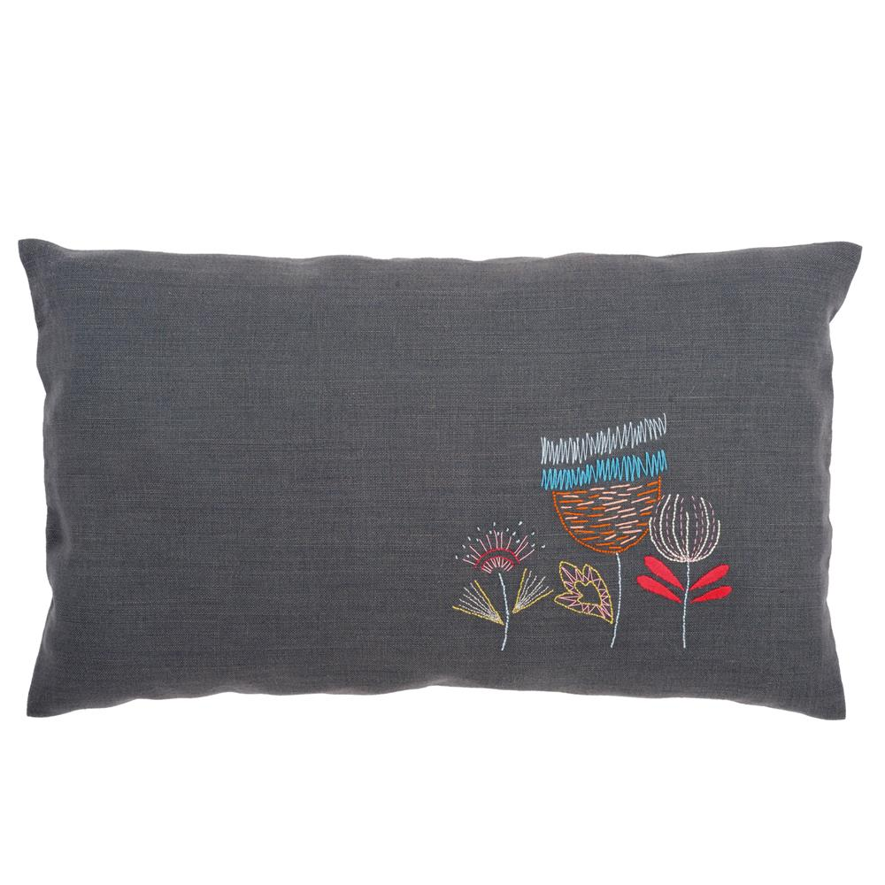 Vervaco Three Flower Pillow Embroidery Kit