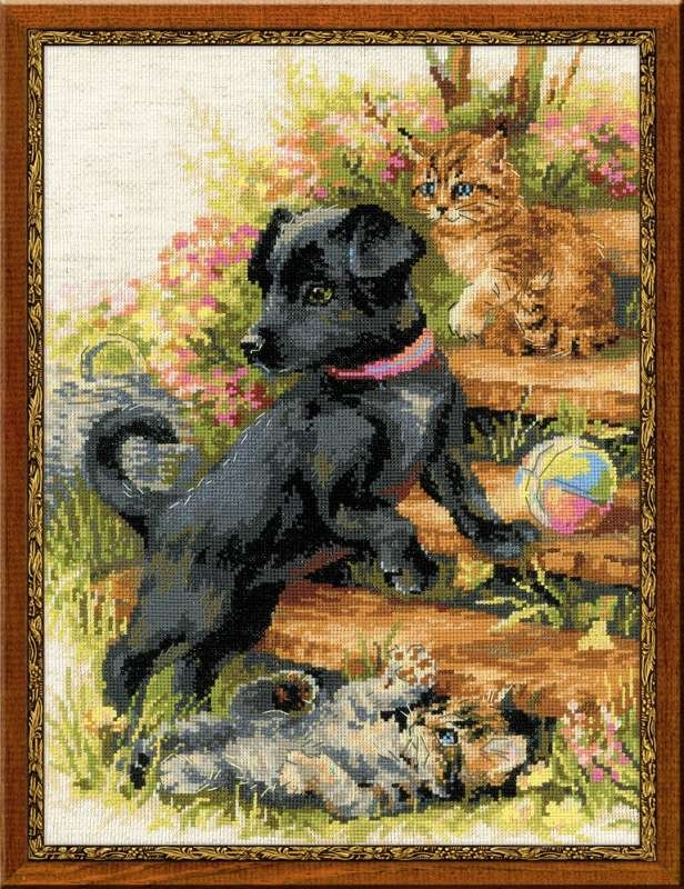 RIOLIS On the Holiday Cross Stitch Kit