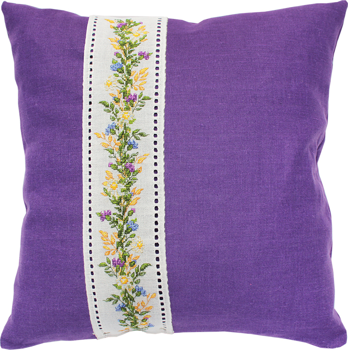 Luca-S Floral Wheat Band Cushion Cross Stitch Kit