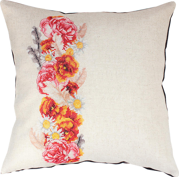 Luca-S Rose and Daisy Cushion Cross Stitch Kit