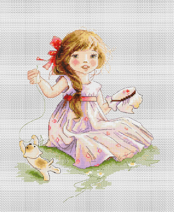 Luca-S The Embroideress Cross Stitch Kit