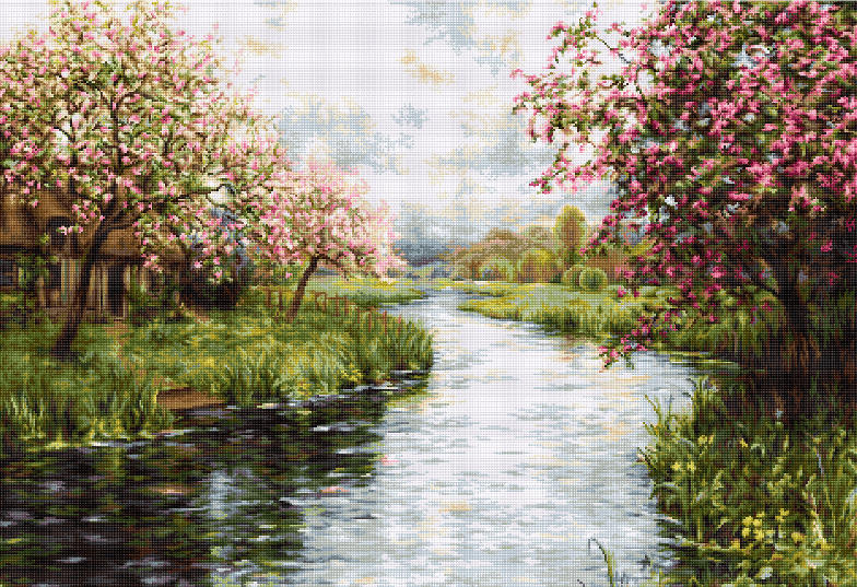Spring Landscape -  Cross Stitch Kit