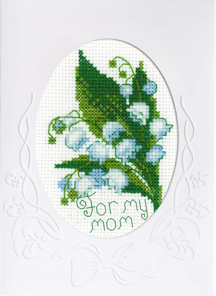 RIOLIS Mother's Day Card Cross Stitch Kit