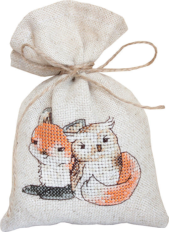 Luca-S Fox and Owl Bag Cross Stitch Kit