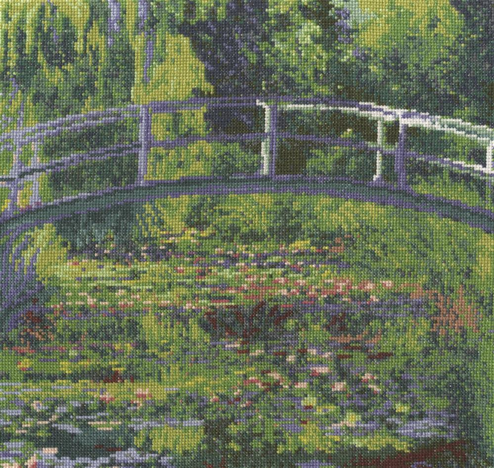 DMC Monet - The Waterlily Pond Cross Stitch Kit