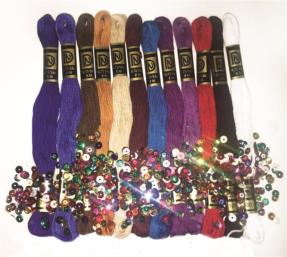 Design Works Crafts Zenbroidery Jewel Tones Trim Pack Embroidery