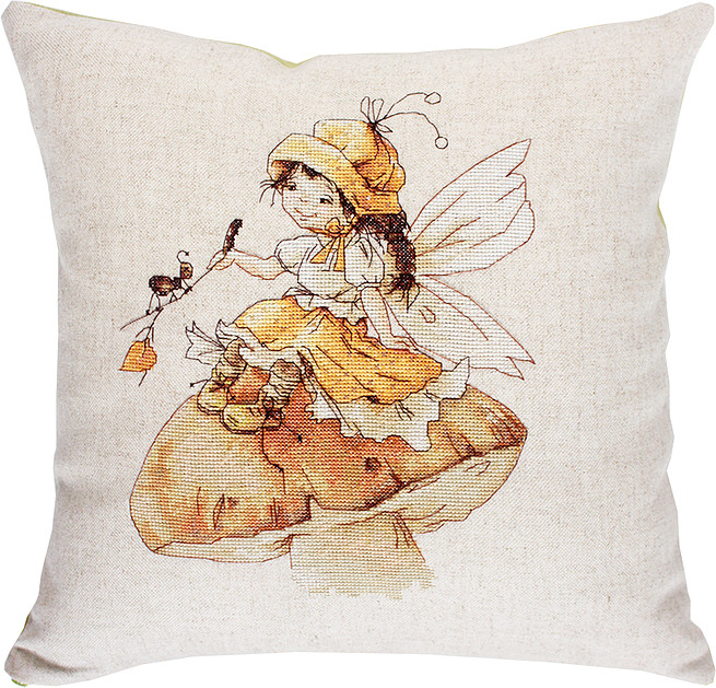 Luca-S Toadstool Fairy Pillow Cross Stitch Kit