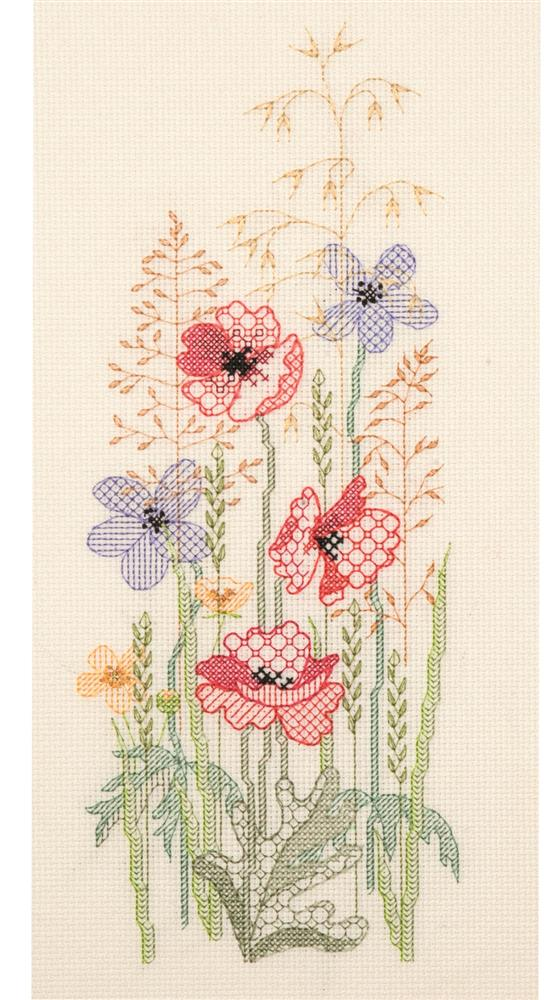 Derwentwater Designs Season Panel - Summer Blackwork Kit