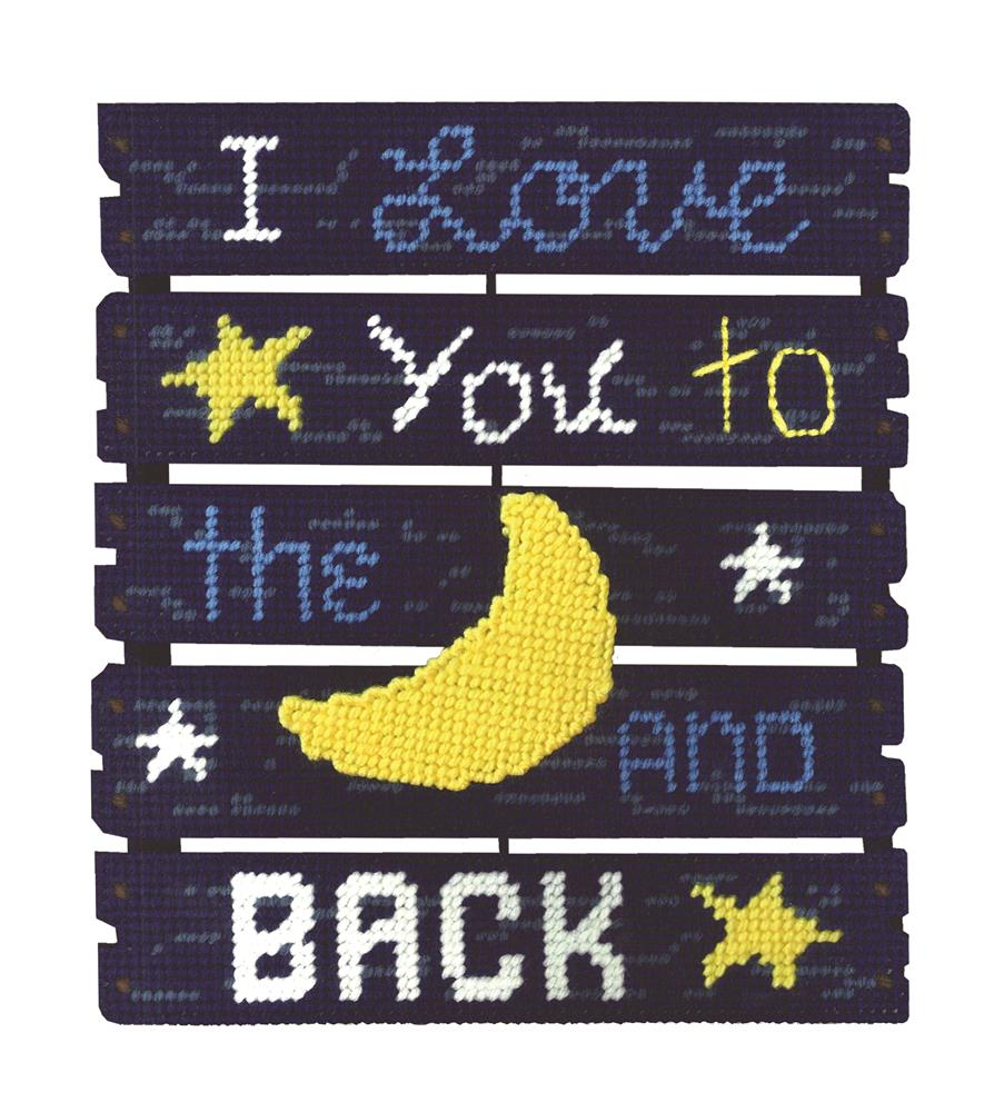 Love You To The Moon -  Cross Stitch Kit