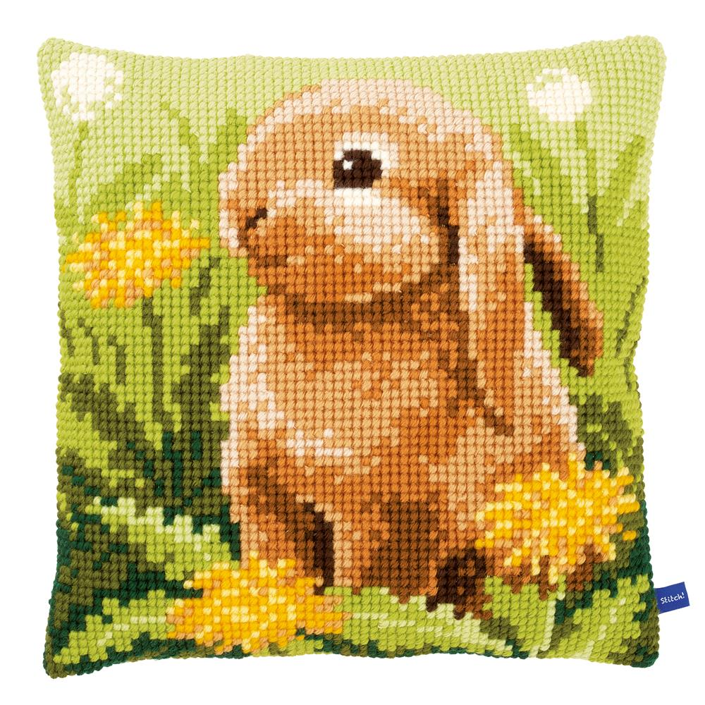 Vervaco Little Hare Cushion Cross Stitch Kit