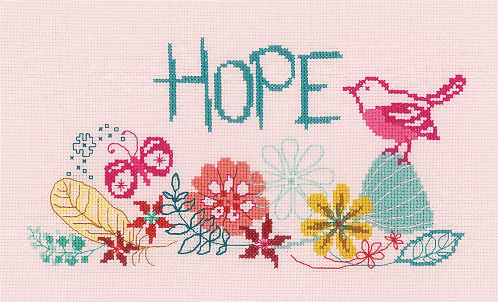 Vervaco Hope Cross Stitch Kit
