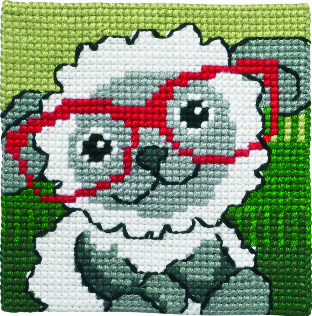 Lamb in Glasses -  Cross Stitch Kit
